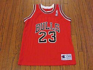 a7d219640c8 VTG 90 s Champion NBA Chicago Bulls Michael Jordan Away Jersey Youth ...