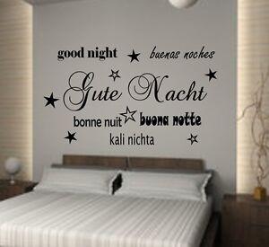 Gute Nacht Good Night Bonnenuit Wandtattoo Schlafzimmer Xxl Ebay