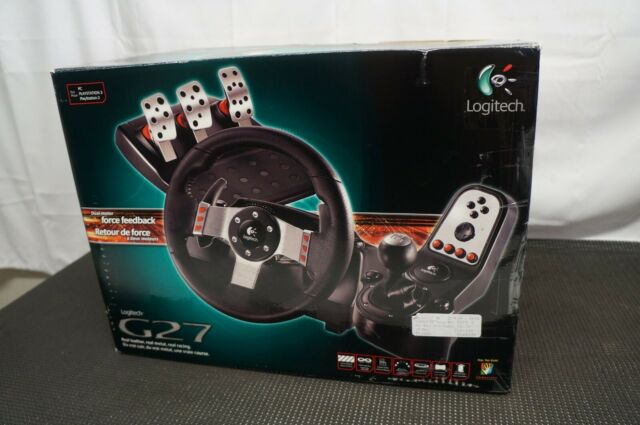 Logitech G27 Racing Wheel Dual-Motor Force Feedback NEW OPEN BOX NEVER USED