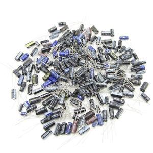 210pcs 25 Value 0.1uF~220uF Electrolytic Capacitors Assortment Kit Assorted