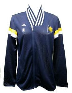 New Indiana Pacers Womens Sizes S-M Blue Full Zip Adidas On Court Jacket