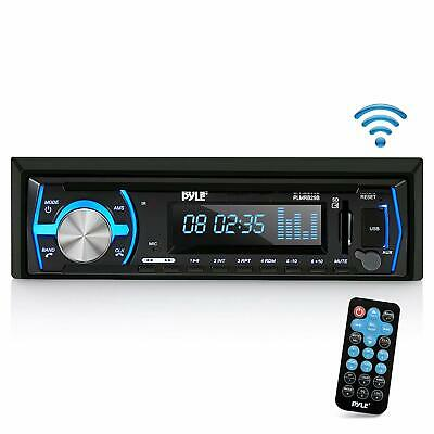 Boat Pyle Bluetooth Marine Stereo Receiver AM FM Radio System Wireless USB SD