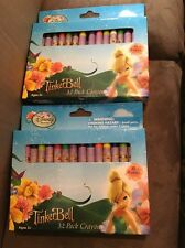 LOT OF 2 BOXES DISNEY'S TINKERBELL FAIRIES CRAYONS 32 EACH BOX