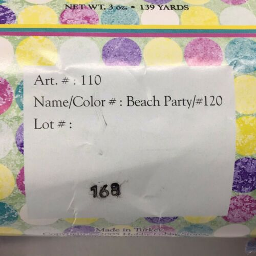 Beach Party Yarn Bee Polyamide Acrylic Wool 278 Yds Hollywood Special Effects