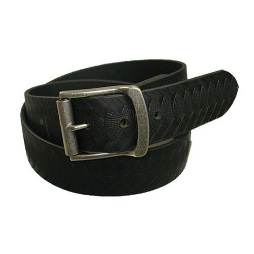 "Mens Handmade Genuine Solid Reptile Weave Embossed Buffalo Leather Belt 1.5/"""