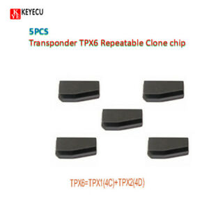 4D 4C carben Car key chip TPX6 Transponder chip=TPX1 can repeat copy +TPX2