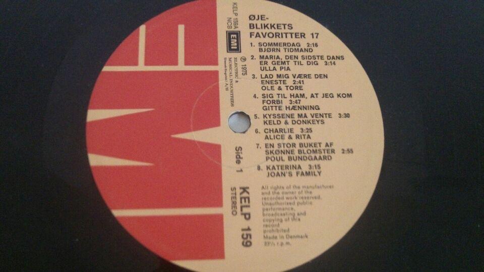 LP, Various, Øjeblikkets Favoritter 17