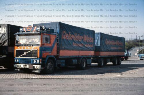 10x15cm //LF26 LKW Foto Volvo F12 F1220 klassischer Hängerzug Wien Österreich