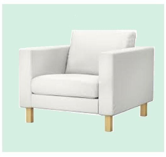 Enjoyable Ikea Karlstad Armchair Blekinge White Slipcover Chair And Ottoman Pabps2019 Chair Design Images Pabps2019Com