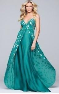 Bnwt Glam De Caprice (14/16) Rrp £ 120 Jade & Argent Robes De Bal/mariages/cruise-seafficher Le Titre D'origine
