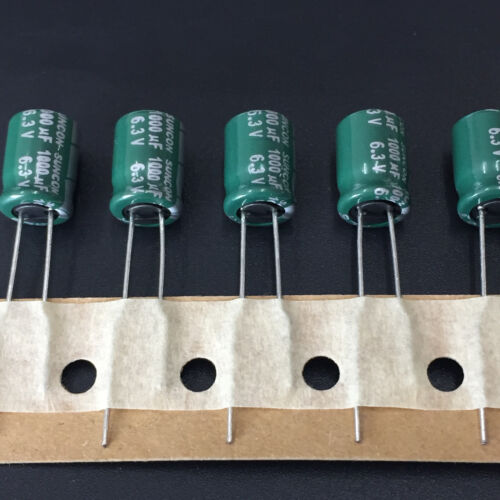 SANYO CA Miniature Low Impedance Capacitor 10pcs 6.3V1000UF 8X11.5 SUNCON