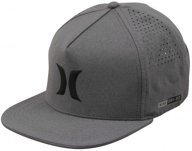 9d40e65cbe4 Hurley Dri-fit Icon Snapback Hat Cool Grey One Size for sale online ...