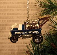 Radio Flyer Wagon Dragster Blue Hot Rod Christmas Ornament Xmas