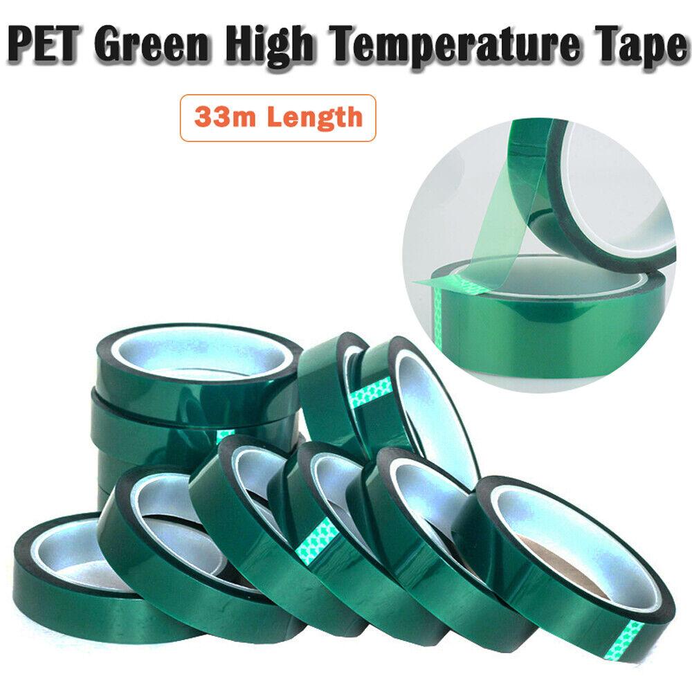 100ft 50mm x33m Green PET Tape High Temperature Heat Resistant Solder BGA PCB