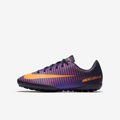 Nike JR Mercurial Vapor XI TF Football Boots Juniors Purple Dynasty Size 5 5.5