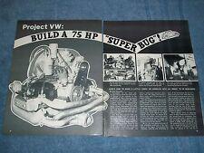 1971 Volkswagen 1800cc Engine Build Vintage Tech Info Article VW