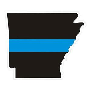 Arkansas-AR-State-Thin-Blue-Line-Police-Sticker-Decal-171-Made-in-U-S-A