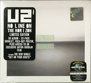 U2-No-Line-on-the-Horizon-2009-LIMITED-EDITION-CD-32pg-BOOKLET-FREE-SHIPMENT