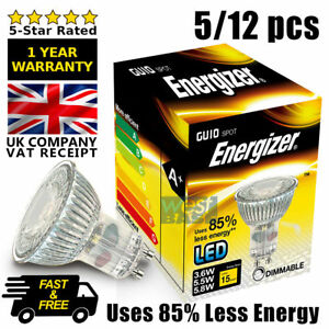 2x Dimmable 50W Yellow//Amber Coloured Halogen GU10 Reflector Light Bulb Lamp