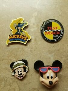 4-Disney-Magnets-Mickey-Mouse-Philharmagic-Test-Track-Epcot-Lot