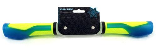 SUPACAZ Kush Ergo Mountain Bike Grips Neon Blue//Yellow