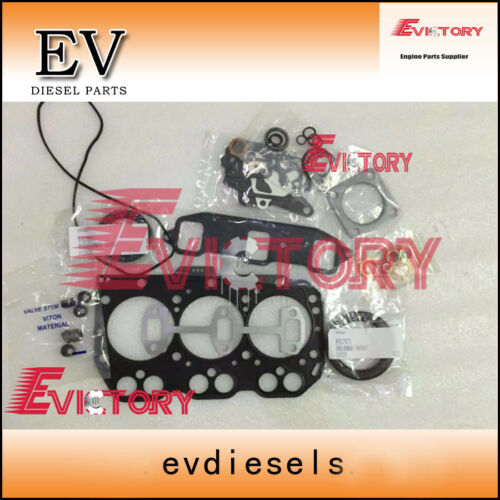 2SETS 3D82E 3TNE82 3TNV82 3TN82 full engine overhaul gasket for mini excavator