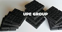 12 Pack Anti Vibration Pads All Rubber 4x4x3/4 Dryer Washer Heat Pump Sub Floor