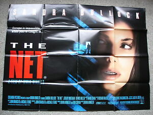 THE-NET-Original-film-poster-Sandra-Bullock-1990-039-s-UK-quad
