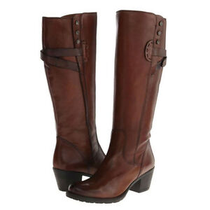fe83f844e17 ladies clarks cognac leather zip wide fit smart knee high boots maymie ...
