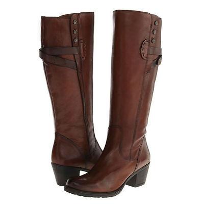 Damen Clarks Cognac Leder Reißverschluss Weite Passform Smart Kniehohe Stiefel | eBay