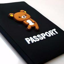 Rilakkuma Bear Silicone Rubber Travel Passport ID Card Document Holder Organizer