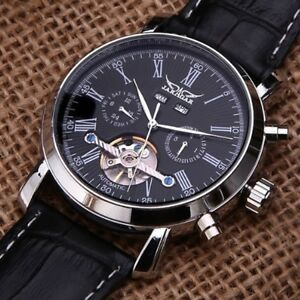 Luxury-Tourbillon-Self-winding-Automatic-Mechanical-Leather-Date-Men-Wrist-Watch