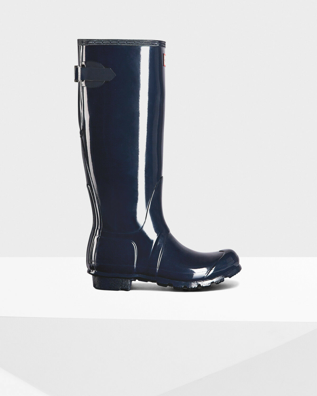 Hunter Hunter Hunter Original Espalda Ajustable Alto botas de agua UK 3-9  punto de venta de la marca