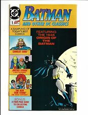 BATMAN and OTHER DC CLASSICS # 1 (Promo Comic, 1989), NM