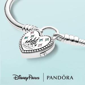 Details about Authentic PANDORA Bracelet Disney Parks Fantasyland Castle  Heart #597993PCZMX