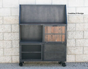 Superieur Image Is Loading Mid Century Modern Vintage Industrial Bar Cart Liquor