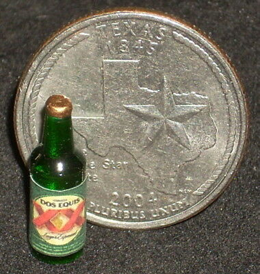 Dollhouse Miniatures Dos Equis Beer 1:12 Scale Ale Alcohol Brown Bar