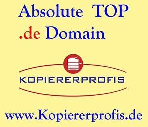 domain Webdomain Top level Domain www . kopiererprofis  de