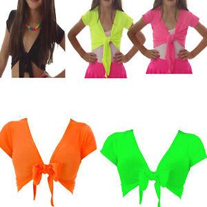 NEON-BOLERO-SHRUG-DANCE-80-039-S-FANCY-DRESS-PARTY-TUTU-GIRLS-KIDS