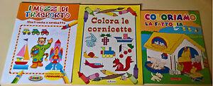 Inquiet 3 Voll. Assortiti Colorare Cornicette Fattoria Mezzi Di Trsporto. Bambini 3+ - L ProcéDéS De Teinture Minutieux