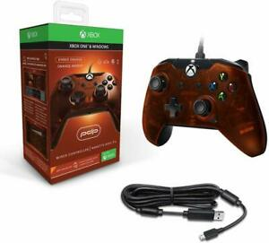 PDP-EMBER-ORANGE-WIRED-CONTROLLER-FOR-XBOX-ONE-NEW-amp-SEALED