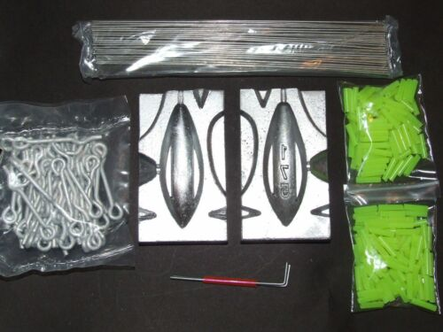 DCA 6.25oz 175g TOURNAMENT WEIGHT GRIP MOULD KIT LOOPS WIRES ROLLER SEA FISHING