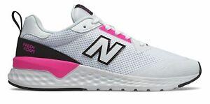 New Balance Women's Fresh Foam 515 Sport v2 Shoes White with Pink & Black