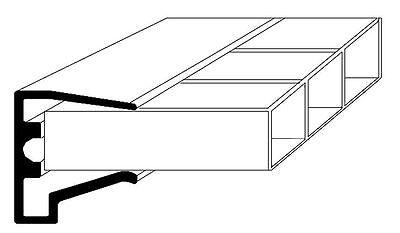 ALU-Tropfkantenprofil für 16mm Stegplatten - 980mm lang - Hohlkammerplatten
