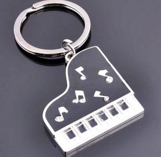 FD1273 Rhinestone Music Piano Creative Metal Keychain Keyring Keyfob Key Gift