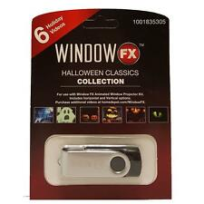 Halloween Window FX Classics Collection USB w/6 Videos for Projector Brand New!