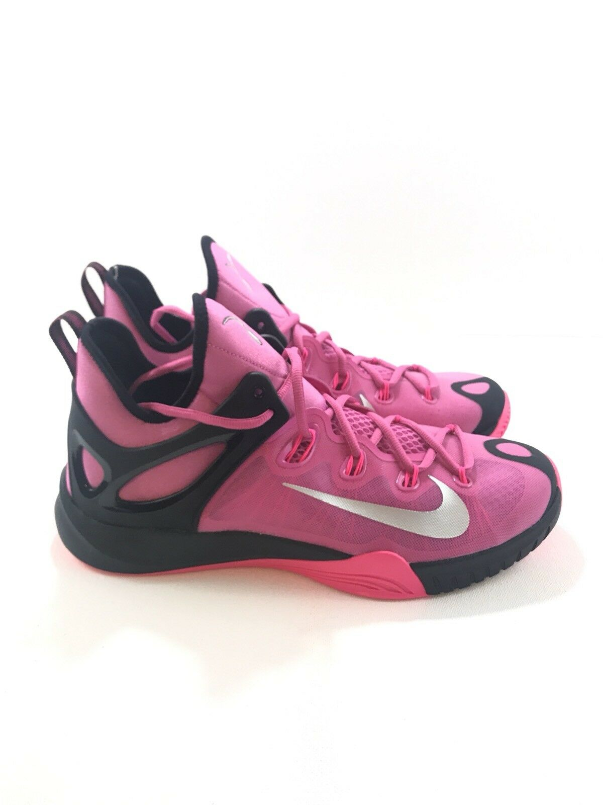 Nike Zoom HyperRev 2015 - Sz 11.5 Pink Breast Cancer Kay Yow shoes 705370-606