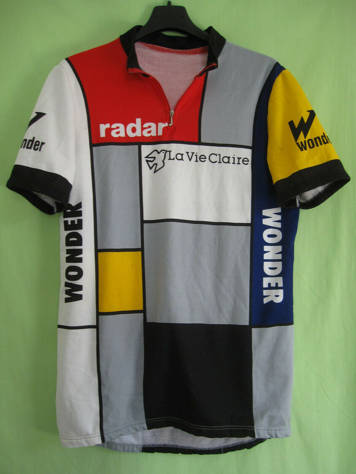 Maillot Cycliste Radar La Vie Claire vintage jersey shirt 80'S HINAULT  L