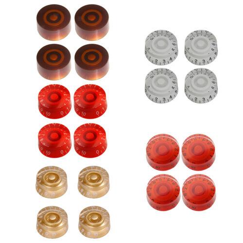 4 Stück Gitarre Button Acryl  Control Knob für E-Gitarre Gold