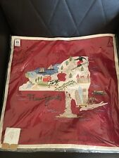 """new POTTERY BARN NEW YORK City EMBROIDERED PILLOW COVER 18"""""""